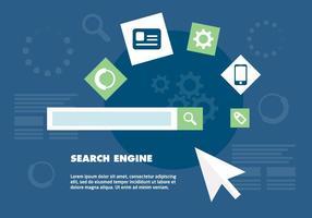 Fondo di vettore di ottimizzazione del motore di ricerca gratuito