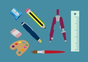 Vettore delle illustrazioni degli strumenti di disegno