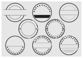set vettoriale di timbro di stempel