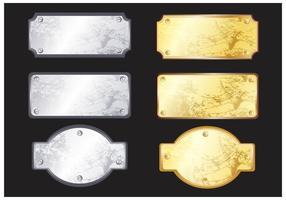 Vettori di targhetta in metallo