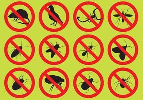 Icone di vettore di controllo dei parassiti