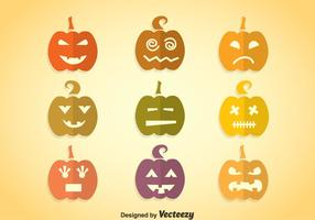 Zucca icone colorate