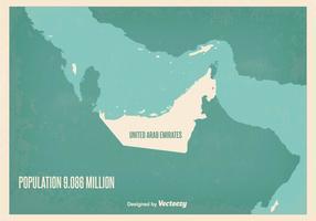 Illustrazione di mappa Vintage UAE