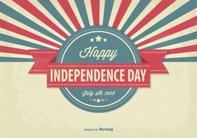 Illustrazione del giorno dell'indipendenza dell'annata vettore