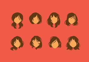 Vettore di stile capelli libero disordinato