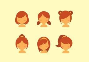 Vettore di stile di capelli di bambini
