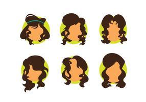 Ragazza capelli ricci vettoriale