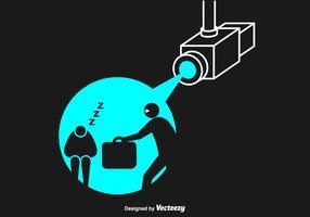 Illustrazione vettoriale gratis ladro