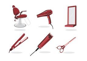 Strumenti per barbiere vettore