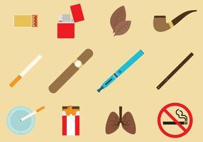 Vettori di icona di tabacco