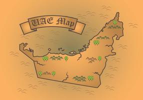 Mappa del mondo fatato degli Emirati Arabi Uniti