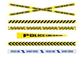 Vettore di linea di polizia gratuito