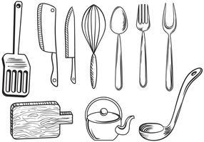 Vettori di utensili da cucina