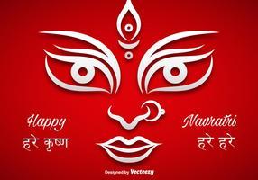 Illustrazione di vettore di puja di Durga
