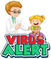 bambino che riceve il vaccino vettore