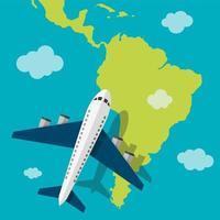 concetto di viaggio del continente vettore