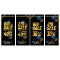 grande set di banner di vendita
