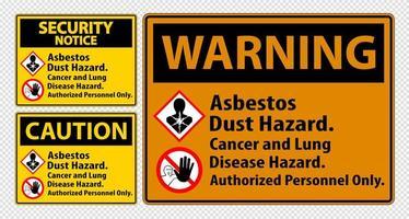 set di etichette di avvertimento