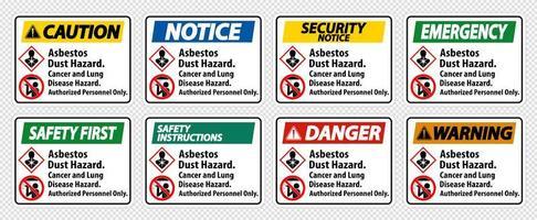 set di etichette di avvertenza