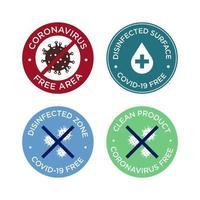 set di icone coronavirus. vettore