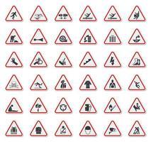 simboli di avvertenza vettore