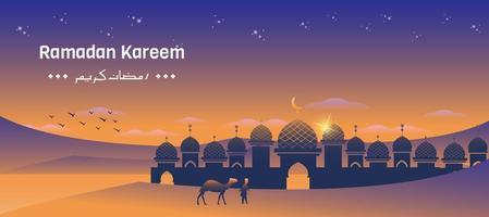 ramadan per il mese santo islamico vettore