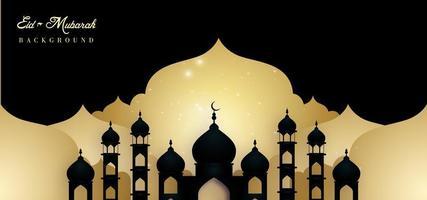 disegno dell'ombra eid mubarak royal banner lusso sullo sfondo
