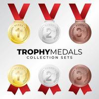 set di raccolta medaglie premio vettore