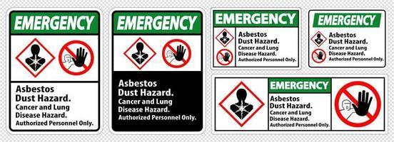 etichetta di emergenza con rischio di malattia impostata
