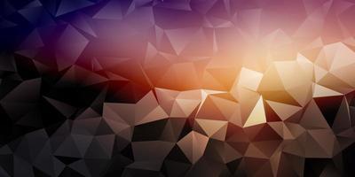 banner geometrico con design basso poli vettore