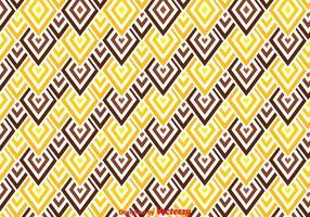 Modello marrone e giallo Chevron vettore