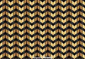 Motivo a zigzag nero e oro vettore