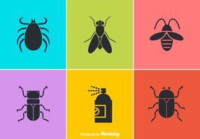 Icone vettoriali gratis di controllo dei parassiti