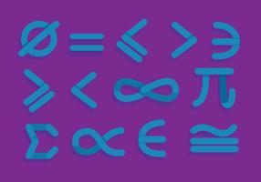 Simboli matematici vettoriale