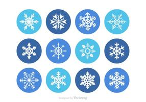 Fiocchi di neve vettoriali gratis