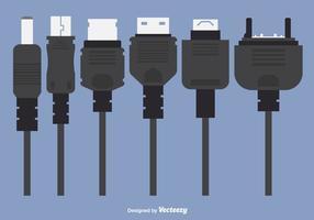 Vettori di caricabatterie per telefoni
