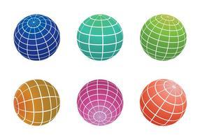 Vettore di griglia del globo