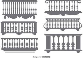 Vettori di icona piatta classica balcone