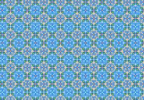 Motivo a mosaico floreale blu vettore