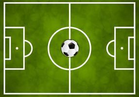 Calcio gratis campo verde vettoriale