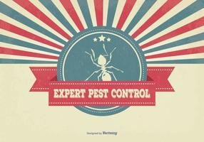 Retro illustrazione di controllo dei parassiti