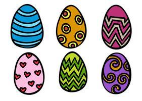 Vettori di uovo di Pasqua del fumetto