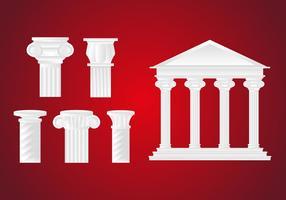 Vettore romano dell'illustrazione della colonna