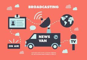 Fondo di vettore del giornalista di notizie piatte gratis