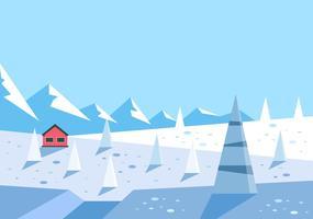 Vettore di illustrazione di avventura invernale gratis