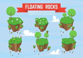 vettore di rocce galleggianti