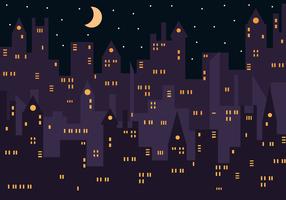 vettore di notte della città