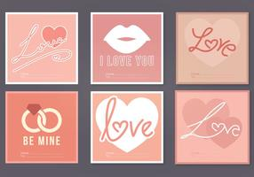 Vector carte di San Valentino