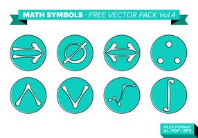 Simboli matematici Free Vector Pack Vol. 4