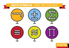 Pacchetto di simboli vettoriali di simboli matematici